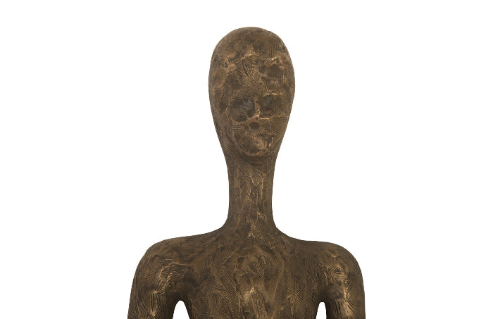 Thin Female Bronze Wall Sculpture