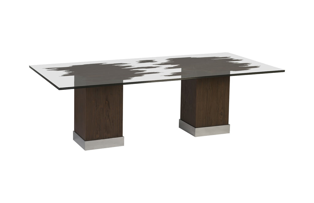 Drift Dining Table with Glass Top
