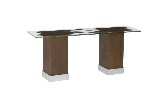Drift Console Table with Glass Top