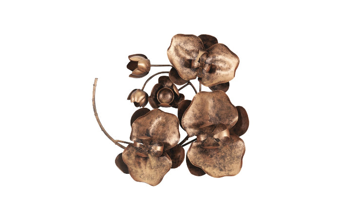 Copper Orchid Wall Sculpture