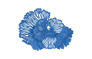 Blue Wall Flower Art