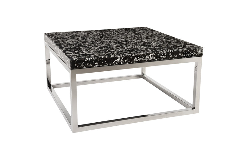 Sparkle Silver-Square Captured Coffee Table
