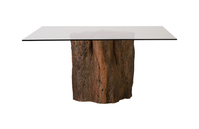 Mais Mai Theng Dining Table with Square Glass Top II