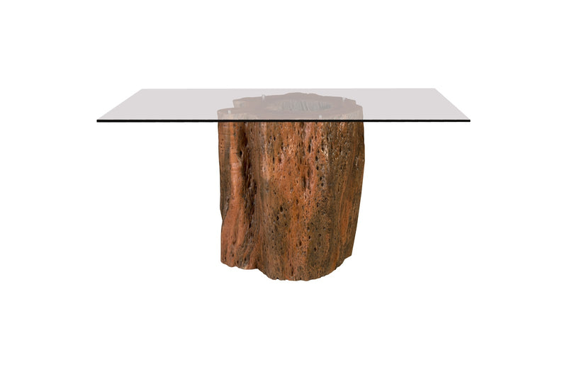 Mais Mai Theng Dining Table with Square Glass Top I