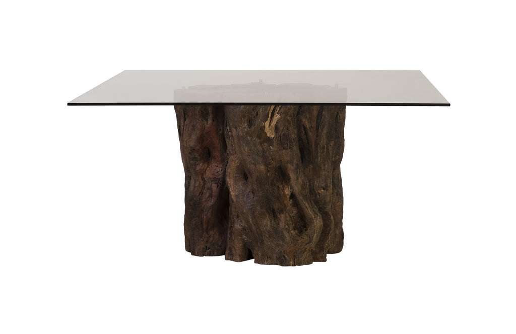 Mais Mai Theng Dining Table with Square Glass Top III