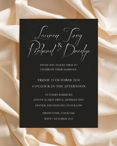 Midnight Bloom Invitation