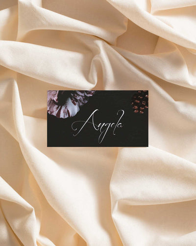 Midnight Bloom Place Card