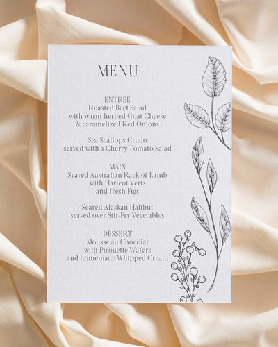 Budding Words Menu