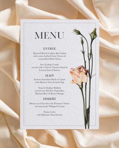 Eden Rose Menu