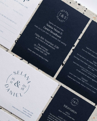 Elizabeth Lane Letterpress Invitation