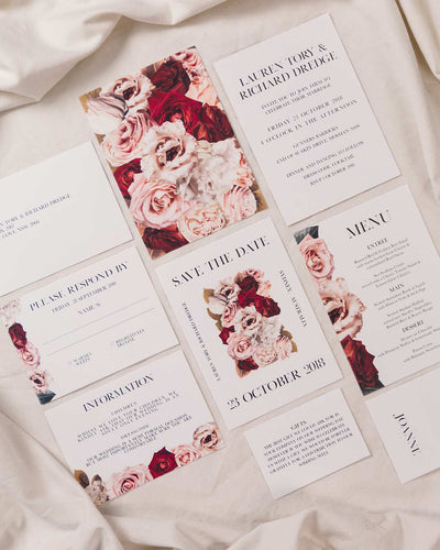 Floral Facade Save the Date