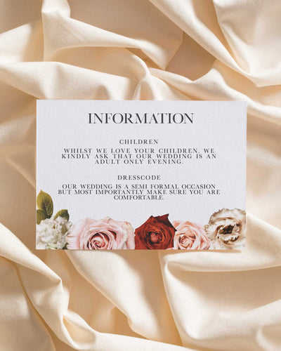 Floral Facade Information Card