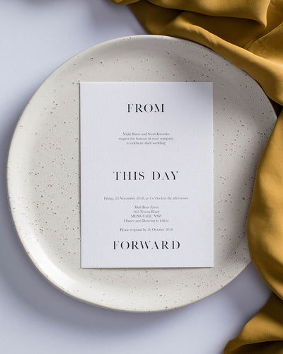 From this Day Forward Place Card