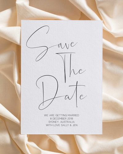 In Writing Save the Date