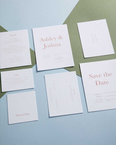 Kindred Kind Letterpress Invitation