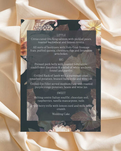Lovers Polaroid Menu