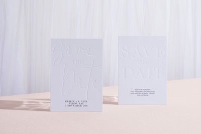 The Sum of Love Letterpress Invitation