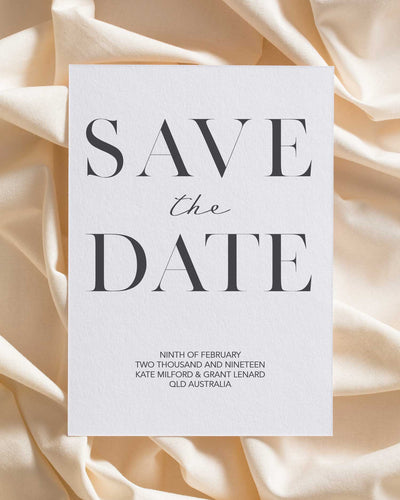 Songbird Letterpress Save the Date
