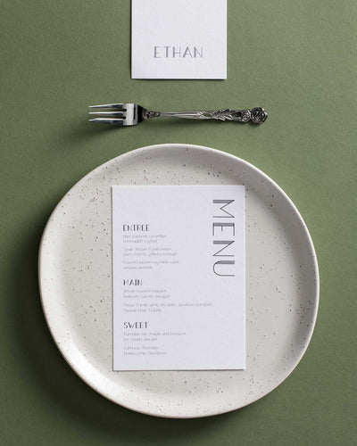 Strong Lines Place Card