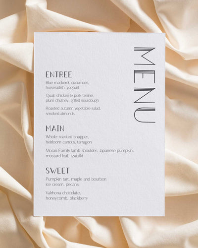 Strong Lines Menu