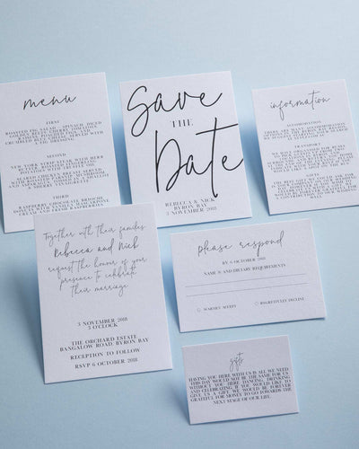 Sweet Creature Letterpress Save the Date