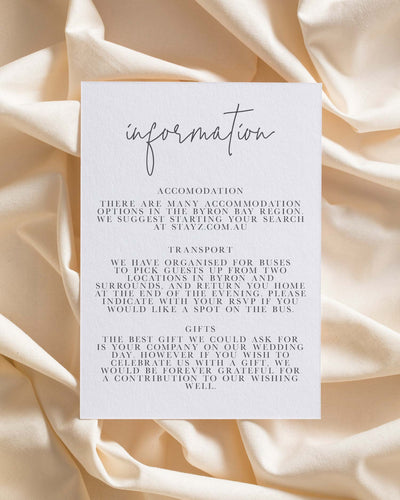 Sweet Creature Information Card
