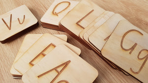 Letters and Numbers Engraved Tracing Tiles