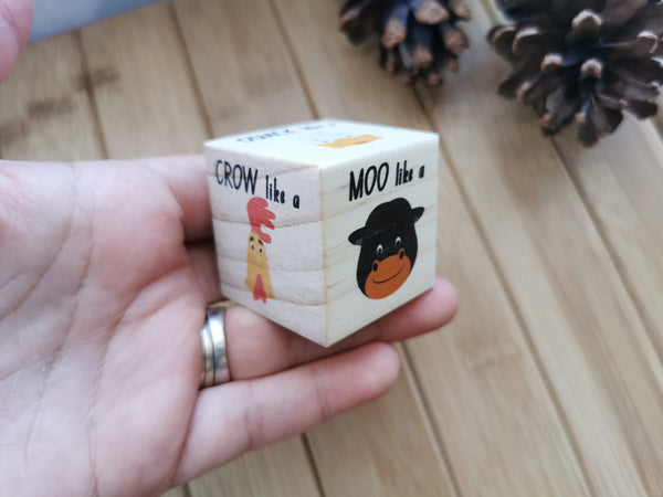 Farm Animals 2 in 1 Dice Set