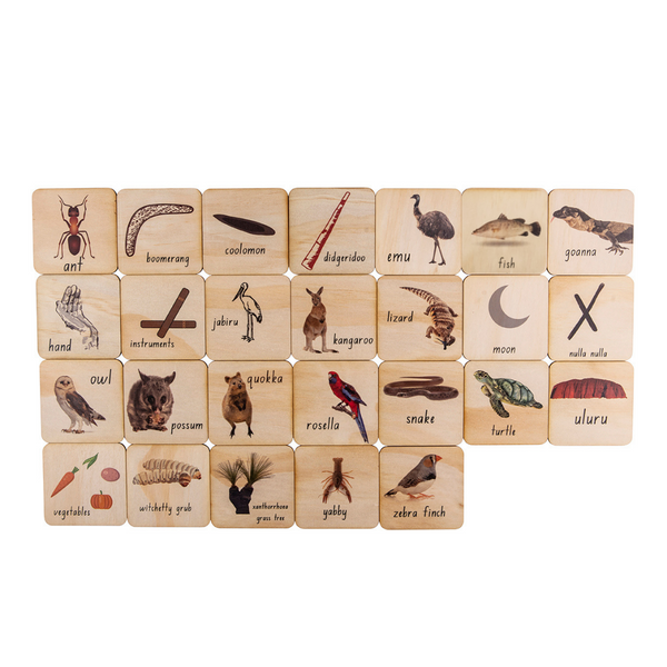 Indigenous A to Z Tiles