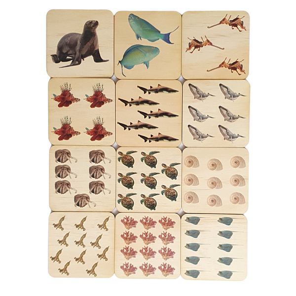 1 to 12 Sea Life Puzzle