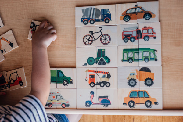 Workers and Wheels Double Sided Puzzle