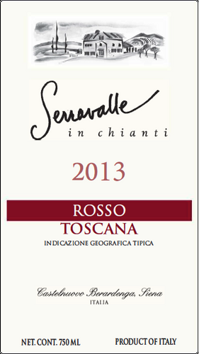 2013 Super Tuscan Rosso -- 12 Bottle Case ------------ (Free Shipping from Italy)