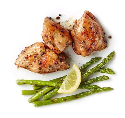 Lime Cilantro Chicken with Asparagus