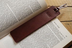 Custom Personalized Leather Bookmark