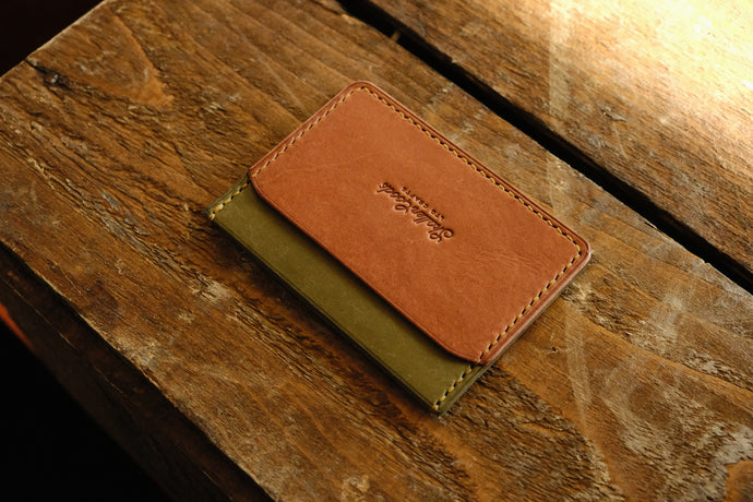 Flann 3 pocket leather cardholder wallet
