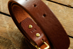Stronghold Italian leather belt / FREE monogramming