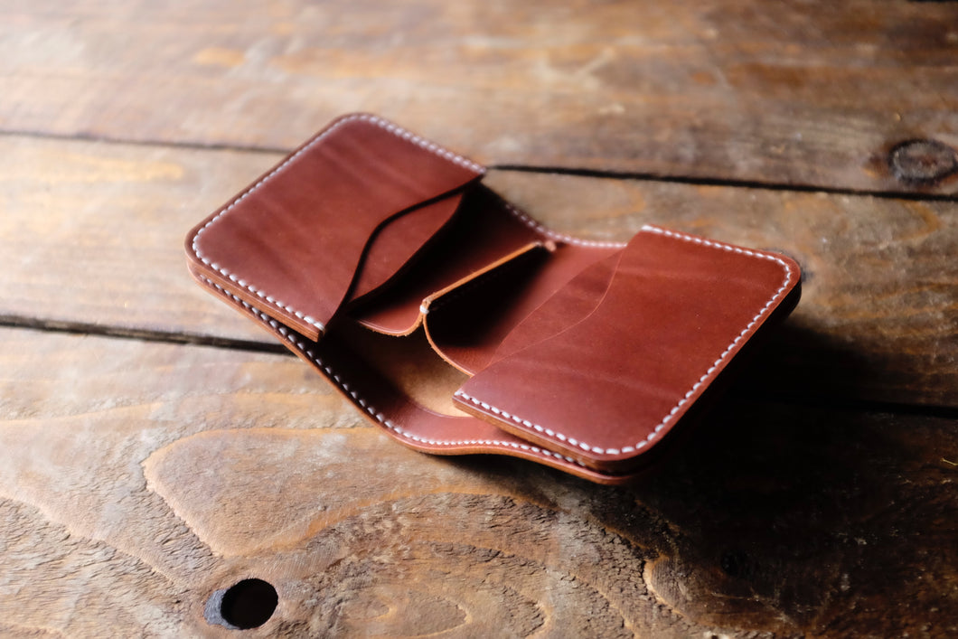 Slevin short Japanese wallet, Buttero leather
