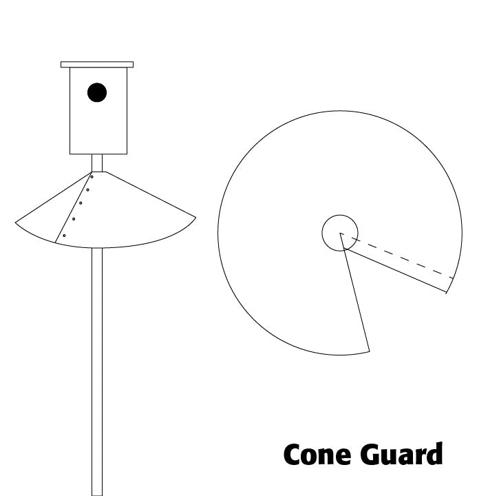 Cone Guard for Birdhouses