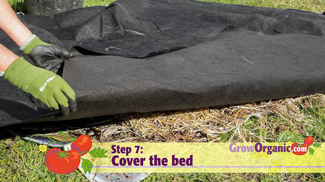 lasagna gardening compost cover compostex fabric