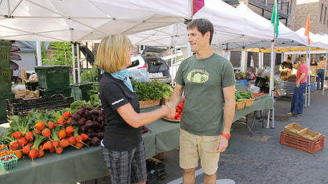 Tricia with Mountain Bounty Farms
