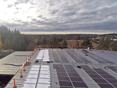 Solar Panels installed at Peaceful Valley Farm & Garden Supply