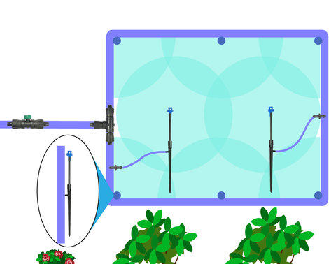 drip irrigation for raised bed