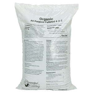 PV Organics All Purpose Pelleted Fertilizer 4-3-2