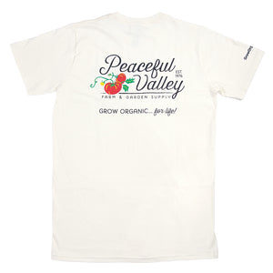Peaceful Valley's Organic Natural T-Shirt (XX-Large)