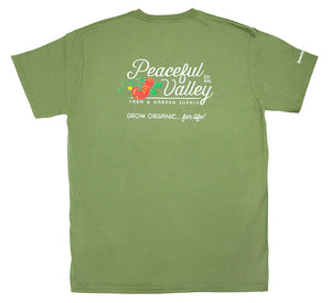 Peaceful Valley's Organic Olive T-Shirt (Small)