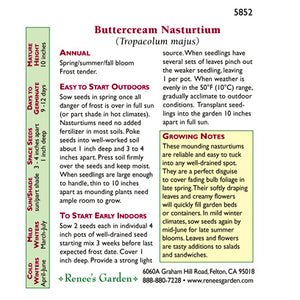 Renee's Garden Nasturtium Mounding Buttercream (Heirloom)