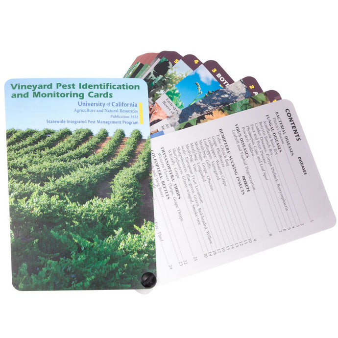 Vineyard Pest ID & Monitoring Cards