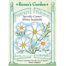 Load image into Gallery viewer, Renee's Garden Specialty Cosmos, White Seashells (Heirloom)