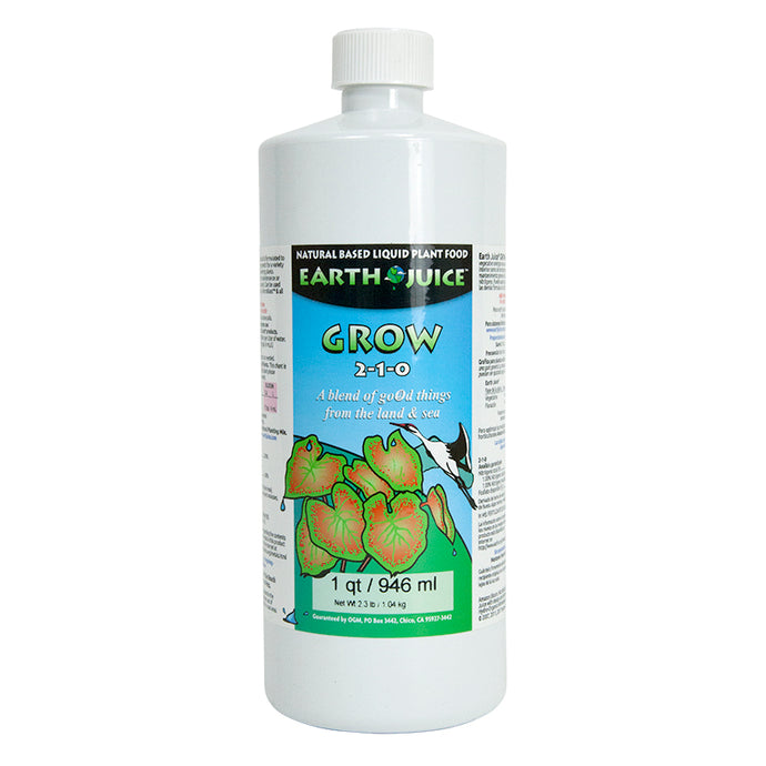 Earth Juice Grow 2-1-0 (Quart)