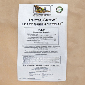 Phyta-Grow Leafy Green Special Fertilizer 7/1/2 (50 Lb)
